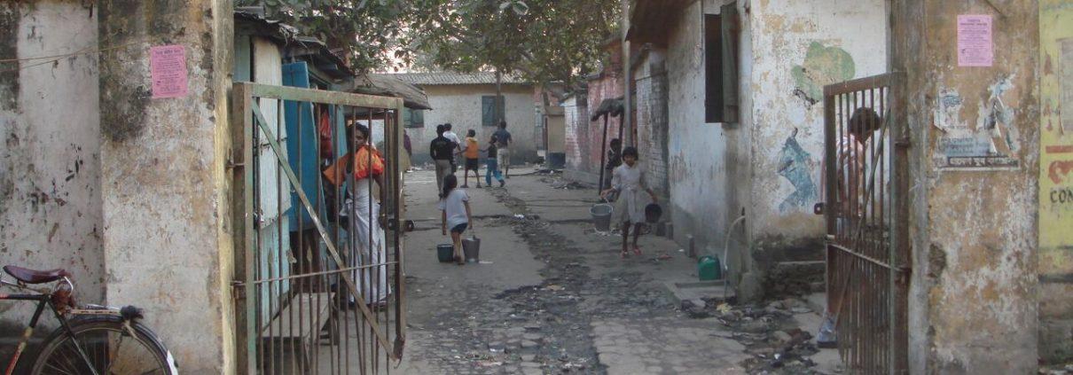 Road near Kiddapore slum where Jillian Haslam lived