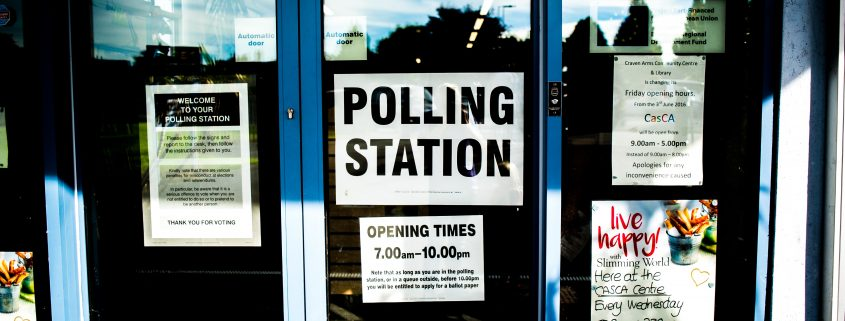 Campaigning - an image of a polling station