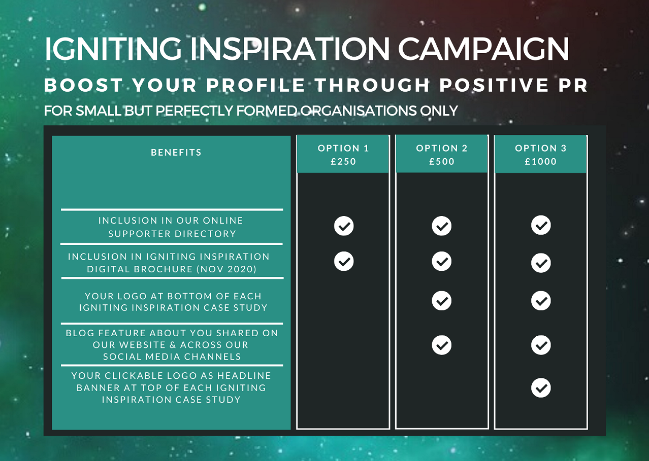 Igniting Inspiration Campaign Packages