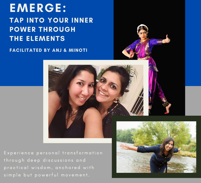 Cover image for Emerge programme featuring Anj and Minoti